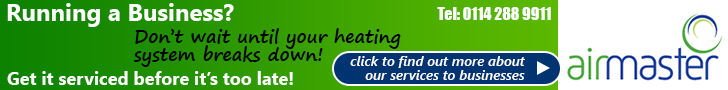 Advert: Running a business? Don't wait until your heating system breaks down – get it serviced before it's too late with Airmaster – Click for more details