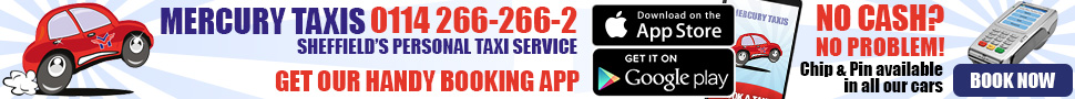 Mercury Taxis - Sheffields Premier Taxi Company - Click for more information