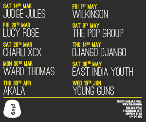 Advertisement – Plug nightclub, Sheffield, List of events in chronological order. Click to visit the website