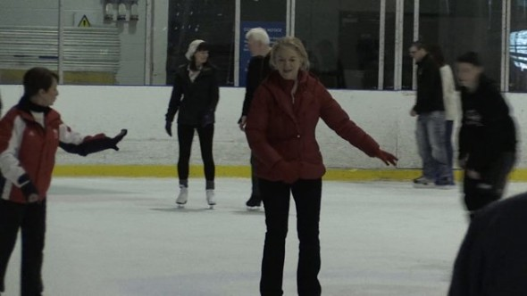 Local Councillor gets her skates on