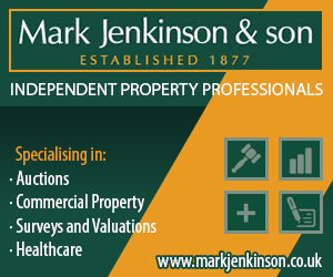 Advertisment: Mark Jenkinson & Son – Independent Property Specialists – specialising in Auctions, Commercial Property, Surveys and Valuations and Healthcare – click to visit our website
