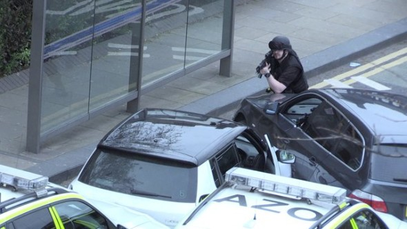 Four men arrested by armed police in City centre